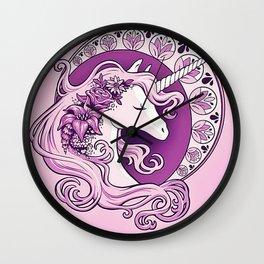beautiful unicorn Wall Clock