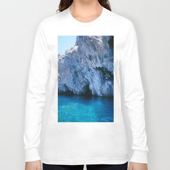 NATURE'S WONDER #5 - BLUE GROTTO (Turkey) #2 #art #society6 Long Sleeve T-shirt