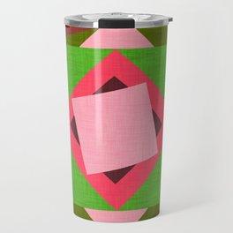 Kilim flower Hot Pink  #homedecor #midcenturymodern #midcentury Travel Mug