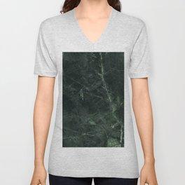 Dark Green Marble Texture Stone Unisex V-Neck