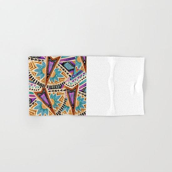 Tribal Folk Icon Hand & Bath Towel