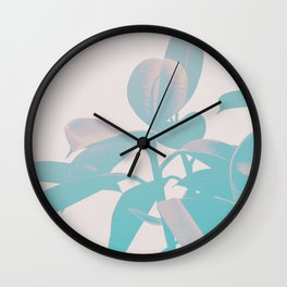 Pastel Botanic Wall Clock