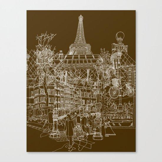 Paris! Canvas Print