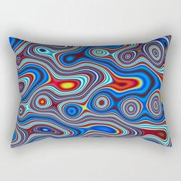 Fordite Marble Lava 4 Rectangular Pillow