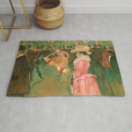 """Henri de Toulouse-Lautrec """"The Dance"""" Rug"""