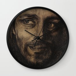 Underworld film. Coal portrait of lycan Lucian. actor Michael Sheen. Портрет углем ликана Люциана Wall Clock