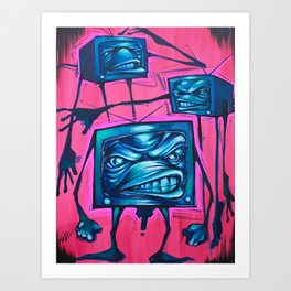Band of TVs Art Print