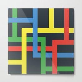 Flat Color Lines Metal Print