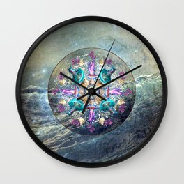Ocean Jewels Jellyfish And Pearl Wall Clock