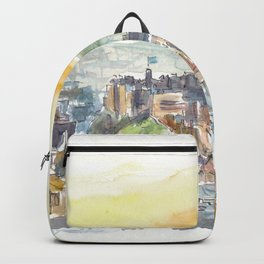 Edinburgh Scotland Cityiew At Dusk Backpack