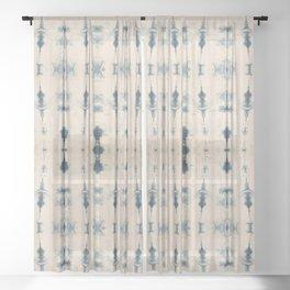 Light Indigo Shibori Sheer Curtain