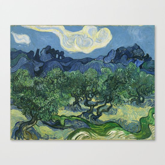 Olive Trees by Vincent van Gogh Canvas Print