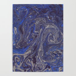 Deep Blue Marble Poster