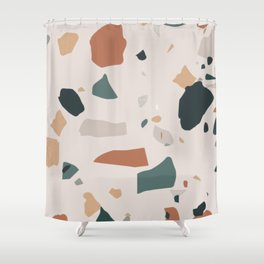 Terrazzo on earth Shower Curtain
