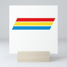 Retro Cooler Stripes Mini Art Print