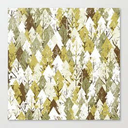 Christmas tree pattern Canvas Print