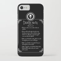 death note iPhone & iPod Cases featuring Death Note Rules by sgrunfo