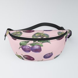 Watercolor plums Fanny Pack