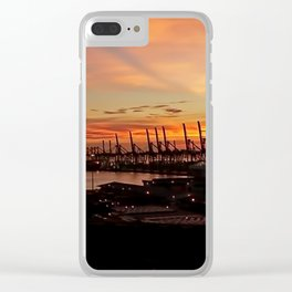 Sunset Port Clear iPhone Case