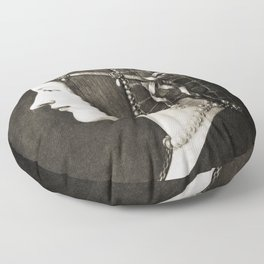 Bianca Sforza by Leonardo da Vinci Floor Pillow