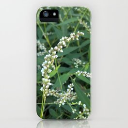 Green and White Infinity iPhone Case