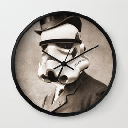 Portrait of a Sir Stormtrooper Wall Clock