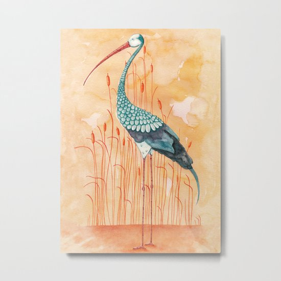 An Exotic Stork Metal Print