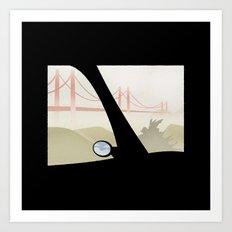 WINDOWS 006: THE BRIDGE Art Print