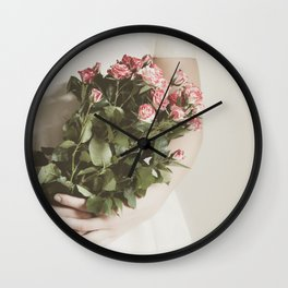 Bouquet Of Roses Wall Clock