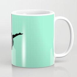Aerial Silk Silhouette on Mint Coffee Mug