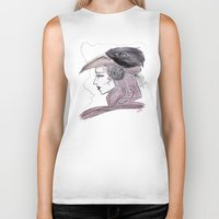 headdress Biker Tanks featuring Headdress by Avedon Arcade