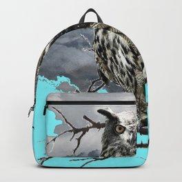 WILDERNESS OWL IN TREE &  BLUE  SKIES Backpack