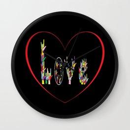ASL Heart Full of Love Wall Clock