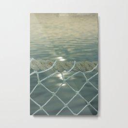 Rope Fence Metal Print