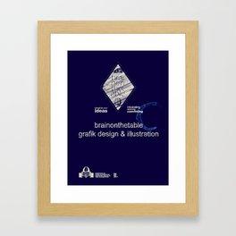 brainonthetable Framed Art Print