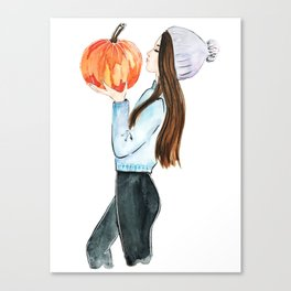pumpkin spice everything Canvas Print
