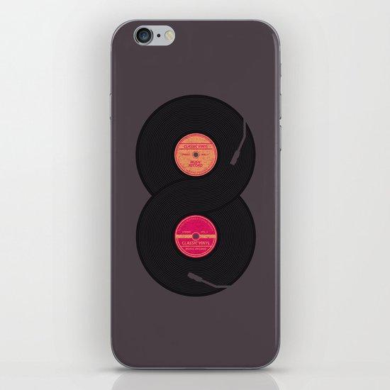 infinity vinyl records iPhone & iPod Skin