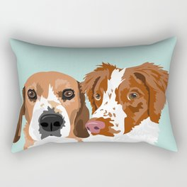 Beagle and Brittany Rectangular Pillow