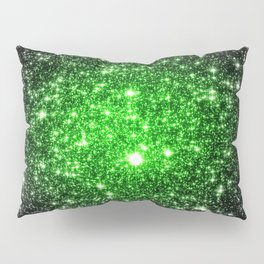 galAxy. Stars Lime Green Pillow Sham