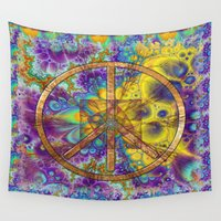 hippy Wall Tapestries featuring Hippy 1 Psychedelic by BohemianBound