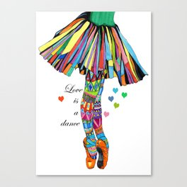 LOVE IS A DANCE Canvas Print