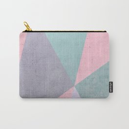 Floral Geometry Carry-All Pouch