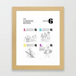 The Illuminated Mixtapes, Edition 6 Framed Art Print