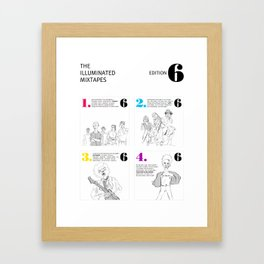 The Illuminated Mixtapes, Edition 6 Framed Art Print