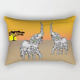 Trumpeting Elephant Knot Rectangular Pillow