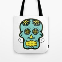 calavera Tote Bags featuring Calavera  by Cody Wilkes-Booth