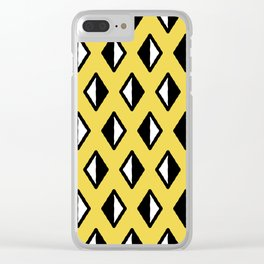 Diamond Pattern Yellow Clear iPhone Case