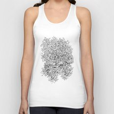 Shattered Faces Unisex Tank Top
