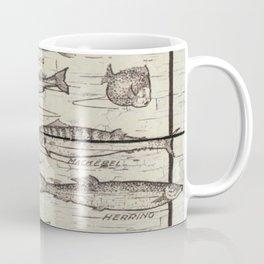 father's day fisherman gifts whitewashed wood lakehouse freshwater fish Coffee Mug