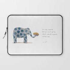 polka dot elephants serving us pie Laptop Sleeve
